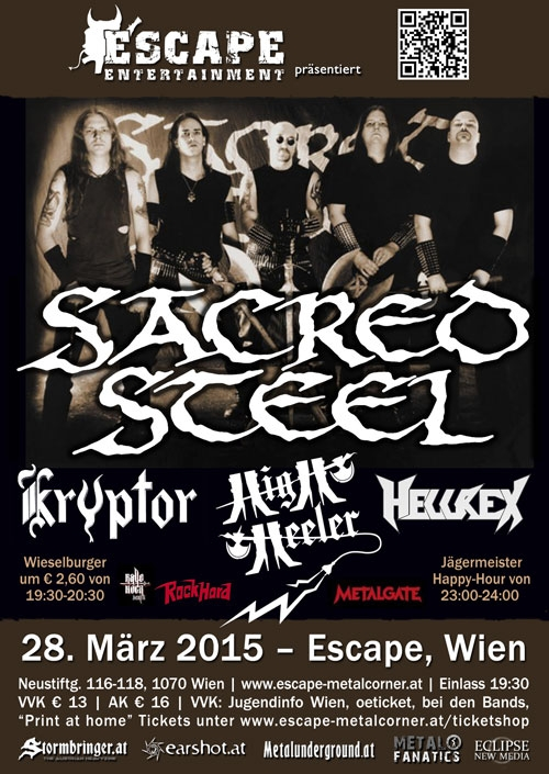 Sacred Steel, Kryptor, High Heeler, Hellrex
