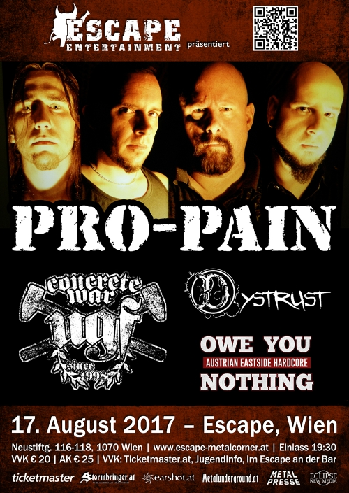 Pro-Pain, UGF, Dystrust, Owe You Nothing