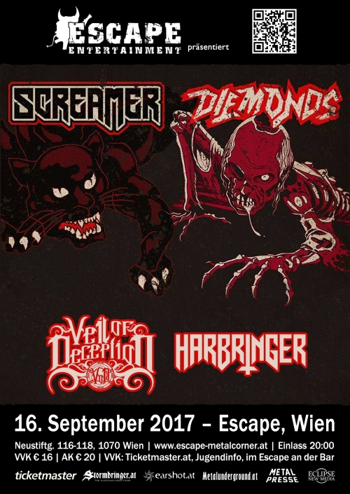 Screamer, Diemonds, Veil Of Deception, Harbringer