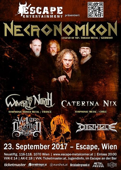 Necronomicon, Waverly Lies North, Caterina Nix, Veil Of Deception, Deathtale