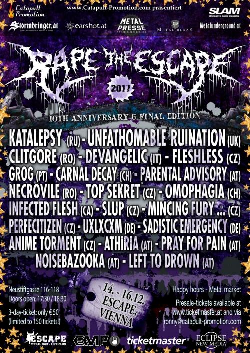 Rape The Escape 2017 - Tag 1