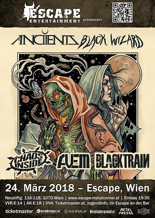 Anciients, Black Wizard, Chaos Inside, Avem, Blacktrain