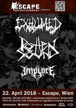 Exhumed, Rotten Sound, Implore
