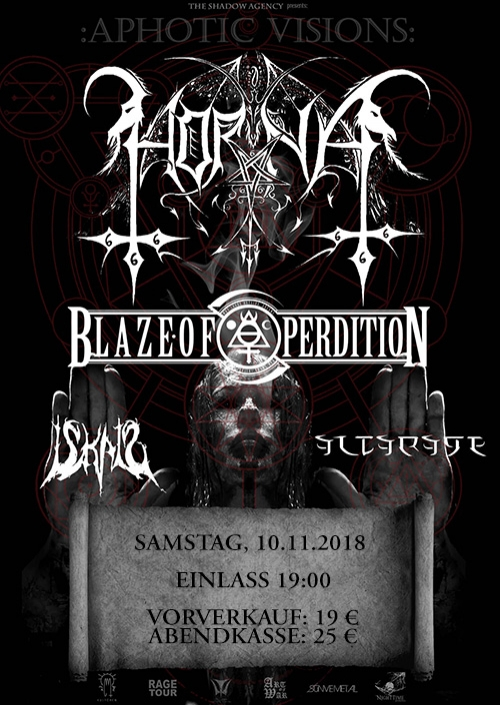 Horna, Blaze Of Perdition, Iskald, Altarage