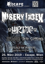 Misery Index, Wormrot, The Lion´s Daughter, Truth Corroded