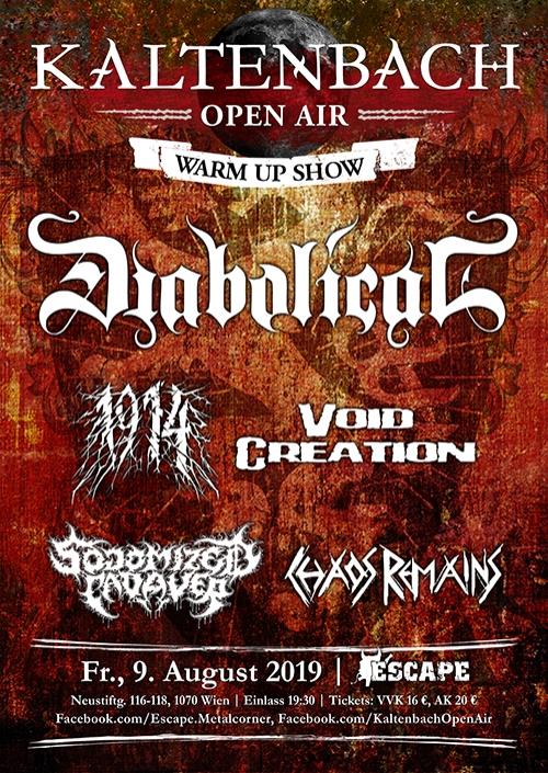 Diabolical, 1914, Void Creation, Sodomized Cadaver, Chaos Remains