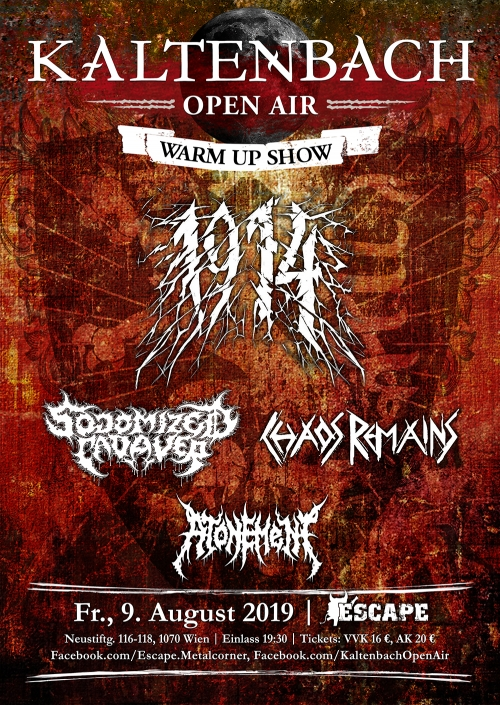 1914, Sodomized Cadaver, Chaos Remains, Atonement