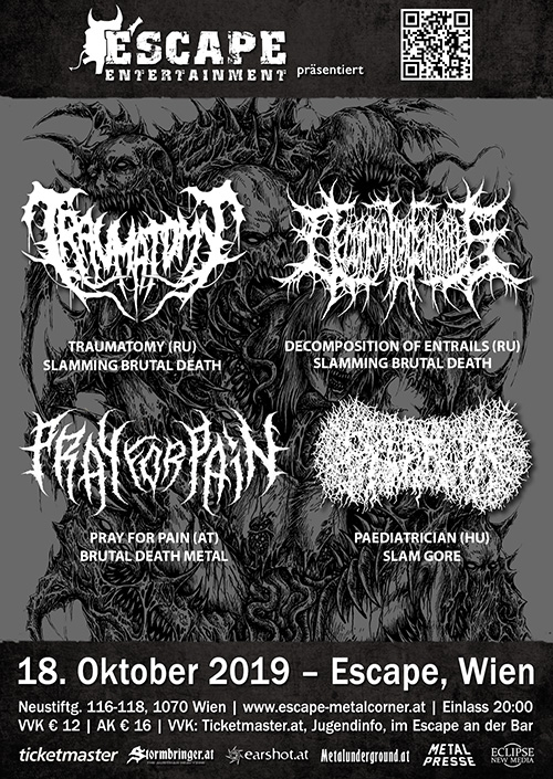 Traumatomy, Decomposition Of Entrails, Pray For Pain, Paediatrician