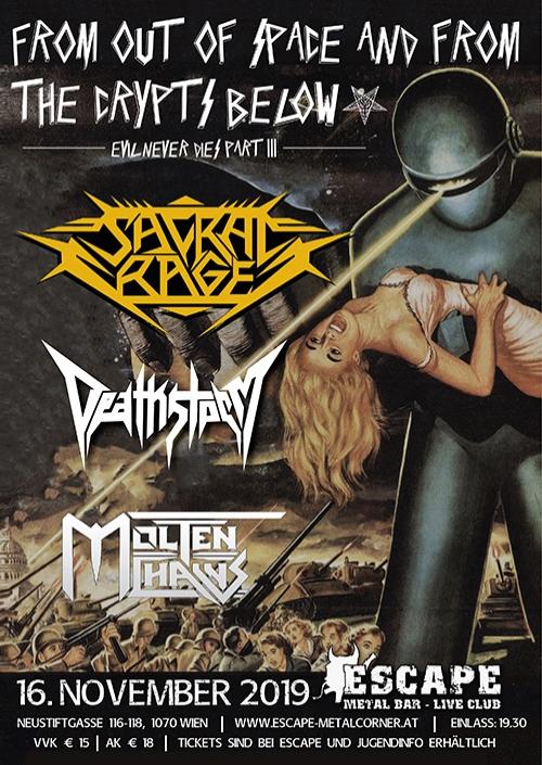 Sacral Rage, Deathstorm, Molten Chains