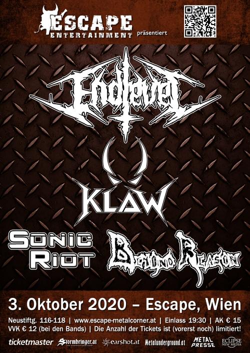 Endlevel, Klaw, Sonic Riot, Beyond Reason