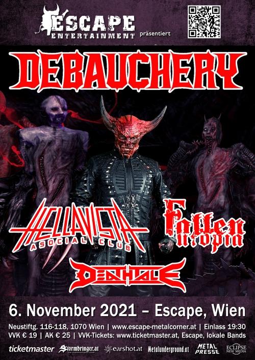 Debauchery, Hellavista, Fallen Utopia, Deathtale