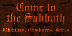 Come To The Sabbath
